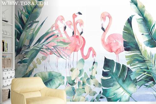 在做彩绘中小清新风格的家居墙绘也是现代年轻人的最爱