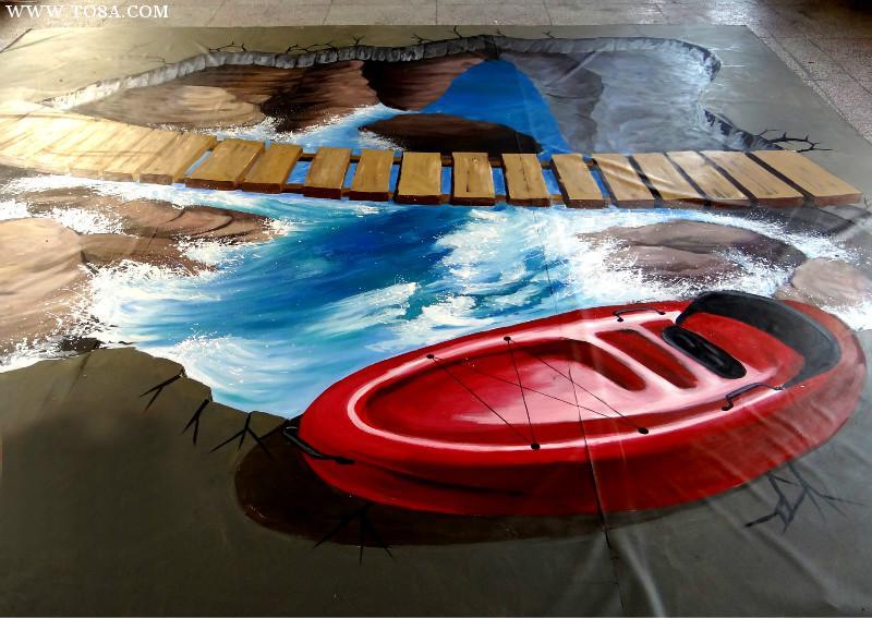 昆明彩绘公司分享如何在地面做手绘才能持久不褪色老化