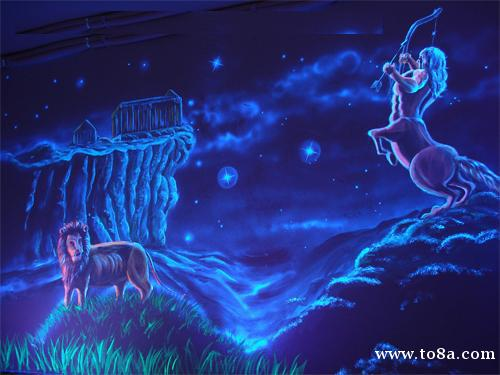 昆明荧光彩绘价格是多少,云南墙绘公司隐形壁画荧光彩绘师电话
