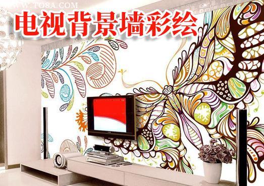 云南昆明电视背景墙彩绘工作室师傅联系电话