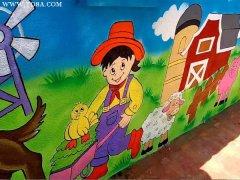 昆明幼儿园墙体彩绘公司分享目前最流行的图案